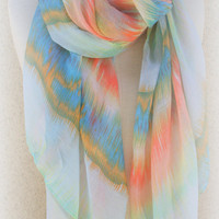Tye Dye Tyedye Tye Die Scarf  Summer Fashion Colorful Women Scarf - By PiYOYO