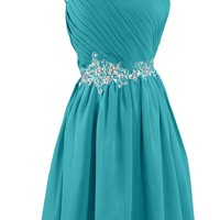 Sunvary Embroidery Waist Bridesmaid Dress Homecoming Dresses for Juniors Short