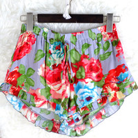 """Flower Power"" Ruffle Shorts"