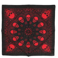 Red And Black Skull Bandana