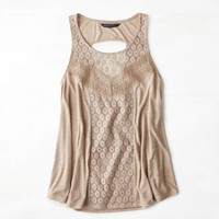 's Mixed Lace Tank