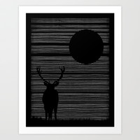 Night Lines Art Print by Jorge Lopez