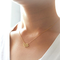 ON SALE - Beehive Necklace / choose your color / gold and silver