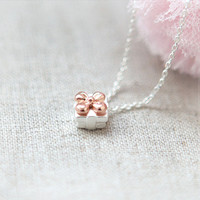 Tiny Gift Box Necklace