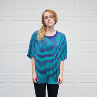 Vintage Oversized Stripe Tee - XL