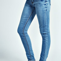 Cerys Mid Wash Supersoft Skinny Jeans