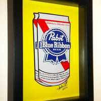 Pabst Blue Ribbon Beer 3D Pop Art Gift for Men by PopsicArt