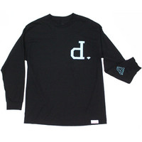 DIAMOND SUPPLY UN-POLO LONG SLEEVE MEN'S TEE IN BLACK (F1UPLT-BLACK)