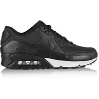Nike | Air Max 90 leather and printed jacquard sneakers | NET-A-PORTER.COM