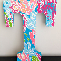 Lilly Pulitzer Let's Cha Cha Inspired Letter