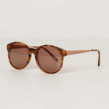 Marbled Sunglasses by Anthropologie Green One Size Eyewear