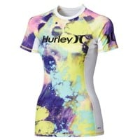 Hurley Women's One and Only Short Sleeve Print Rash Guard - Dick's Sporting Goods