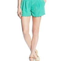 My Michelle Juniors Solid Scallop Short