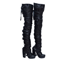 Nicholas Kirkwood for Rodarte Thigh High Bondage Boots New 39