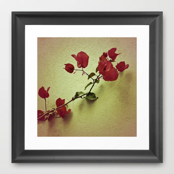 Santa Rita Flower Framed Art Print by Danflcreativo