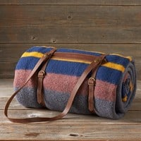 Camp Blanket With Leather Holder