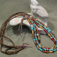 Beaded Southwestern Necklace  by StoneWearDesigns