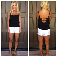 Flutter And Flow Jersey Tank - BLACK