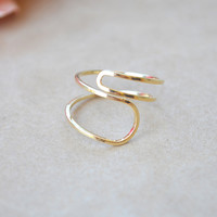 Double Loop Knuckle Ring - Gold | Shop Civilized