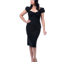 Stop Staring! Plus Size 1940s Style Black Billion Dollar Baby Wiggle Dress
