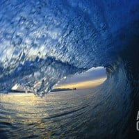Inside Breaking Ocean Wave Photographic Print by David Pu'u at Art.com