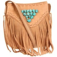 Lucky Brand Indigo Fringe Crossbody 