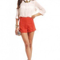 High Waisted Pintucked Shorts by ShopAKIRA | Short Shorts | ShopAKIRA.com
