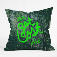 Leah Flores Get Lost X Muir Woods Throw Pillow