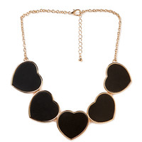 Faux Leather Heart Necklace