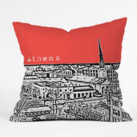 DENY Designs Home Accessories | Bird Ave Athens Red Throw Pillow