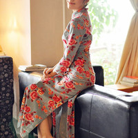 Winter Sleeve Cotton Long Cheongsam,Chinese Dress