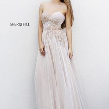 Prom Dresses 2014 - Sherri Hill 11114 Mesh Ball Gown