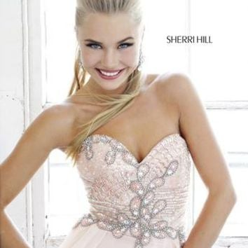 Prom Dresses 2014 - Sherri Hill 3895 Beaded Chiffon