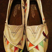 Hand Painted TOMs Bunting by YourSoleExpression on Etsy