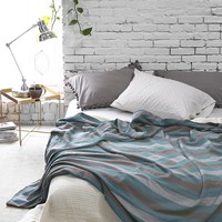 Magical Thinking Diamond-Stripe Bed Blanket - Urban Outfitters