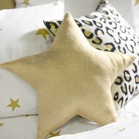 The Emily + Meritt Liquid Gold Star Pillow