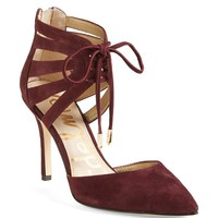 Sam Edelman 'Zachary' Cutout Ankle Cuff Suede Pump (Women)