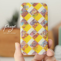 Apple iphone case for iphone iphone 5 iphone 5s iphone 5c iphone 4 iphone 4s  : scott plaid pattern with vintage flower