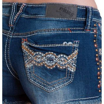 Premium Crafted Hydraulic Gramercy Short- Low rise zip fly stretch jean 5 pocket with heavy stitch b