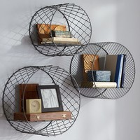 Circle Wire Shelves, Set Of 3