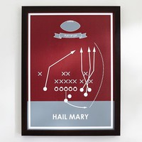 Hail Mary, Sport Poster Framed Art