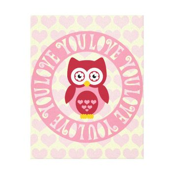 Love You Owl for the Nursery or Kids' Rooms