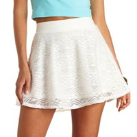 AZTEC LACE HIGH-WAISTED SKATER SKIRT