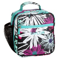 Gear-Up Graphic Flower Sketch Classic Lunch With Mesh Side Pocket