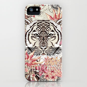 *** WILD THING *** TIGER  VINTAGE ***iPhone & iPod Case by Monika Strigel | Society6