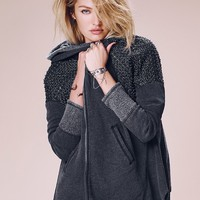 Free People Sparkle Dust Zip Up Hoodie