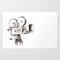 vintage filming Art Print by Bianca Green