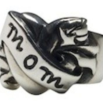 Mom Tattoo Ring by Femme Metale
