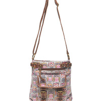 Owl Print Crossbody Bag | Wet Seal