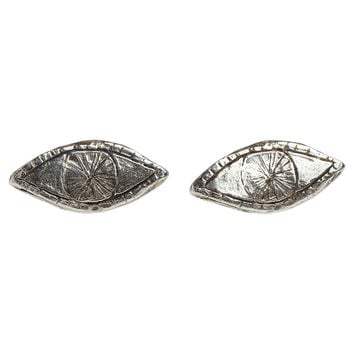 I liked this design on #Fab. Watchful Eye Studs Silver